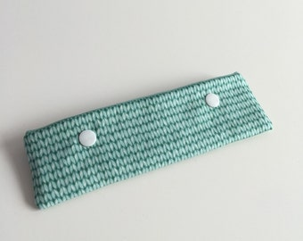 Knit print DPN case / cosy for 15cm double pointed needles