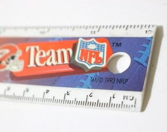 1993 NFL Teams Helmets / 12 Inch Plastic Straigh Ruler and Metric Measures