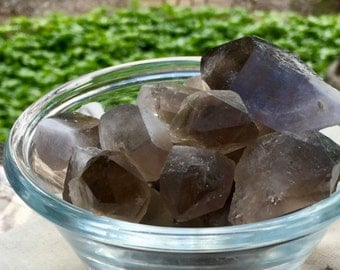 Smoky Quartz Points || Raw Smoky Quartz || Smoky Quartz Stones || Smoky Point Cluster || Chakra Crystal | Crystal Grid | Reiki