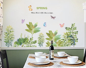 Plant wall decal removable wall decal home decor wall art