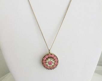 Floral Circle Pendant Necklace