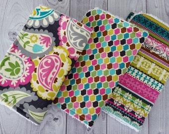 Baby Girl Burp Cloths, Girl Burp Cloths, Paisley Burp Cloths, Burp Cloths, Trendy Burp Cloths, girl shower gift, girl baby gift