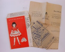 Vintage 50's Betsy McCall Doll Pattern
