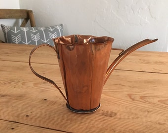 Vintage Craftsman Co Copper Watering Pitcher Numbered