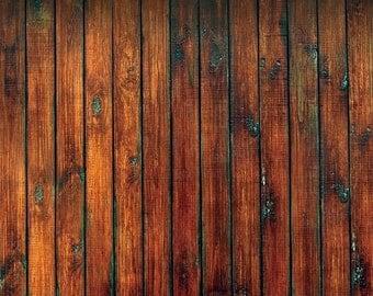 Old Distressed Wood Floordrop Vinyl photo Backdrop for Studios, Newborns photography Background- brown Wooden Floor Backdrops XT-4052