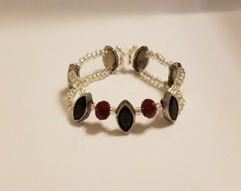 8in red/black bracelet