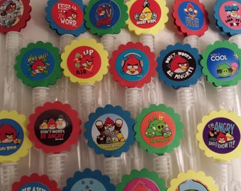 Angry Birds Mini Bubble Wands birthday party favors - set of 15