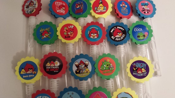 Angry birds mini bubble wands birthday party favors set of for Mini bubble wands