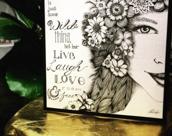 Let Her Roam Free - Greeting Card