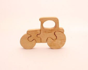 Wooden tractor puzzle   12 months +  Wood toy   Wooden puzzle   Childrens toy   Wooden toys   Baby puzzle