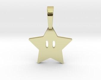 Super Mario Star Pendant | 3D Printed Jewelry Charms & Pendants