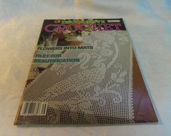 Decorative Crochet Magazine #16 July 1990 Home Decor, Filet, Doilies, curtains