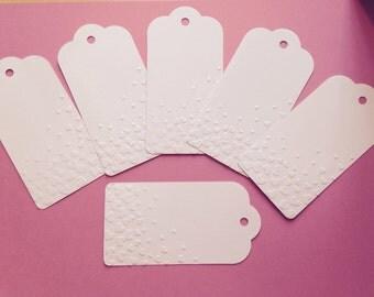 Beautiful Handmade Embossed Gift Tags