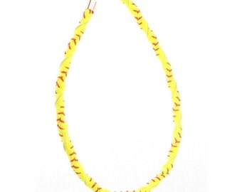 Leather Softball Necklace
