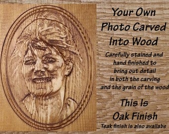 Your Photo - Carved Wood Portrait