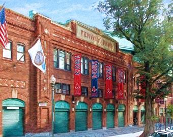 Fenway Park, Boston, Baseball, Boston Red Sox, Historic Ballpark, Guy Gift, Man Cave, Boston Landmark, Boston Art, Boyfriend gift