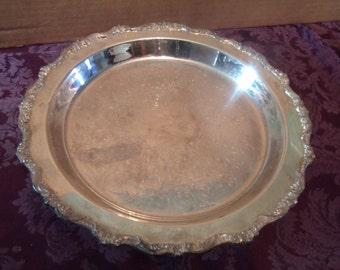 Vintage Old English Poole Silver Co. Serving Tray