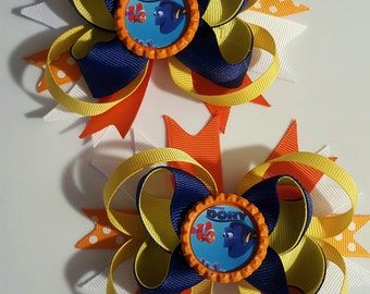 Finding Dory Girls Hair Bows.  Set of 2