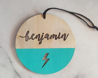 Kids custom name plaque - Personalised Name and Image - Door sign - Wall Hanging - Room Decoration -  Designed, cut and painted in Melbourne