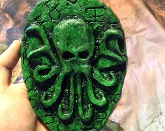 Hand made Cthulhu Plaque