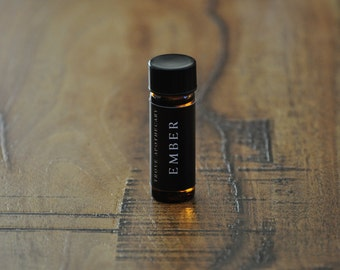 EMBER – Natural Botanical Perfume Oil – charred conifers, scorched wood, moss tinder, and smoke