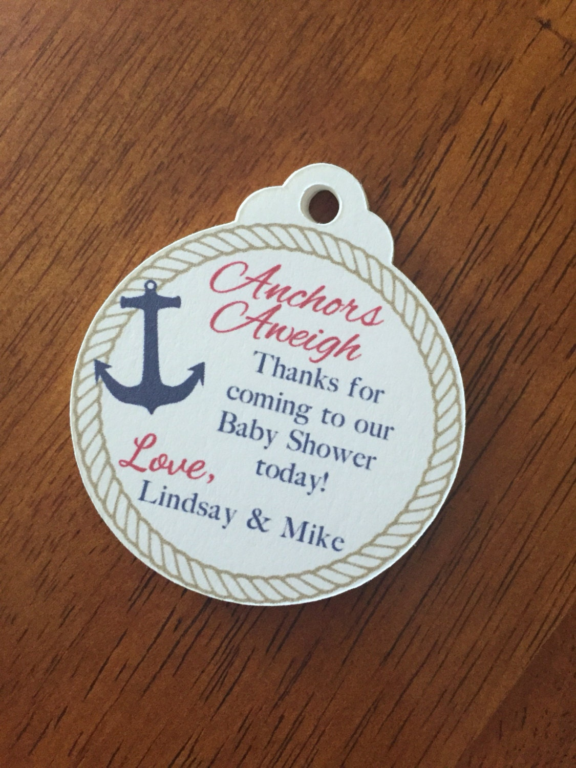 nautical baby shower favor tags anchor baby shower favor