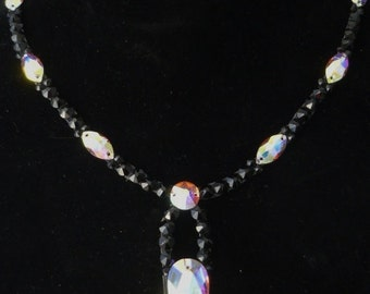 Crystal Jet Swarvoski Necklace