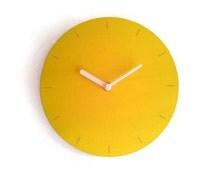 Laser cut wood minimalist clock,round clock,kitchen clocks,hand painted clock,wooden wall clock,living room wall clocks,small clock,clock