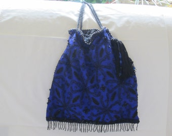 Drawstring evening bag