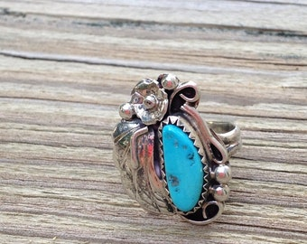 Vintage Native American Sterling & Turquoise Ring