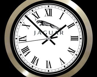 """Jaguar Cars 10"""" wall clock with metal frame"""