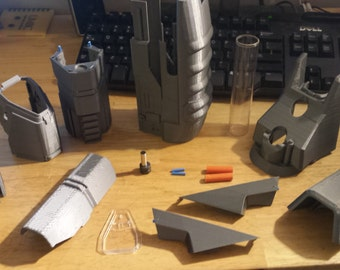 3D Printed Halo Assault Rifle Kit for Nerf Retailiator Barrel Attachment