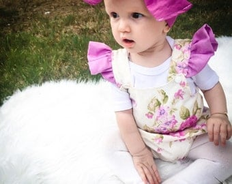 Beautiful girls romper with flutter sleeves
