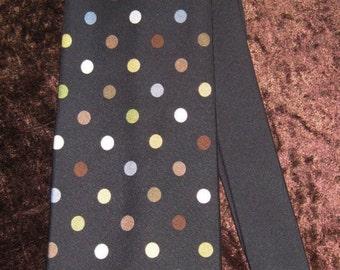 Gene Meyer Black with Multi Dots Necktie