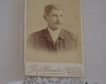 Vintage Photography Young Man's Headshot