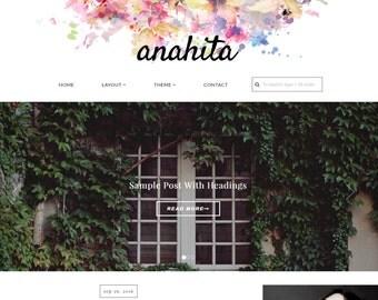 Wordpress Theme Wordpress template, Feminine wordpress theme, Responsive WordPress Them, Wordpress blog theme, Fashion theme-Anahita