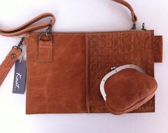Handmade soft leather schoulderbag. Handmade soft leather shoulder bag