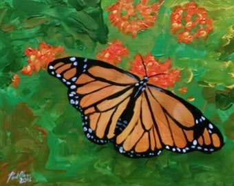 Original painting - Monarch Butterfly