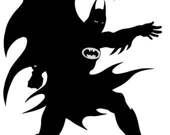 SVG Batman cutting file, Batman svg, Batman eps, Batman instant download, Batman silhouette file, Batman file - Batman silhouette