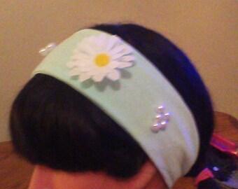 Ladies Daisy Pearl Headband