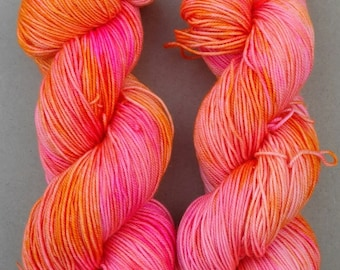 Priss- Hand dyed yarn, Sport weight, 100% Superwash Merino, 328 yards,