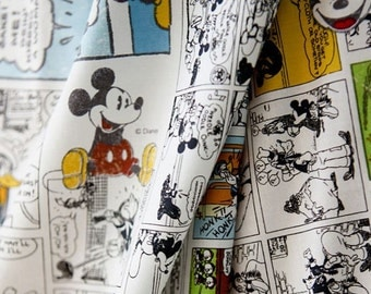Mickey Mouse Character Fabric made in Korea / Cartoon Style / Half Yard