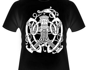 Viking Pagan Norse Loki Bound Knotwork T-shirt AT006-TM