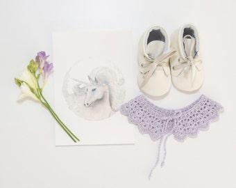 """Crochet Collar in """"Lilac"""""""