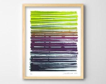 Purple Art Print, Purple Blue Green Art, Modern Abstract Art