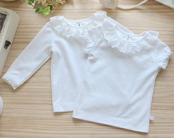 T2-Baby Handmade T-shirt (Long sleeves or Short sleeves), 100% Cotton, Daily baby wear, Infant to Baby Girl