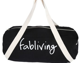 FABULOUS PEOPLE Fabliving Weekender Bag (Black/Natural)