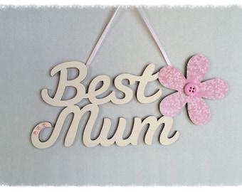 Best Mum with Flower