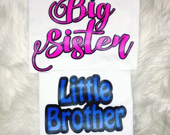 Big & Little Sibling shirt set