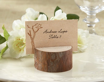 24 Rustic Real-Wood Place Card/Photo Holder